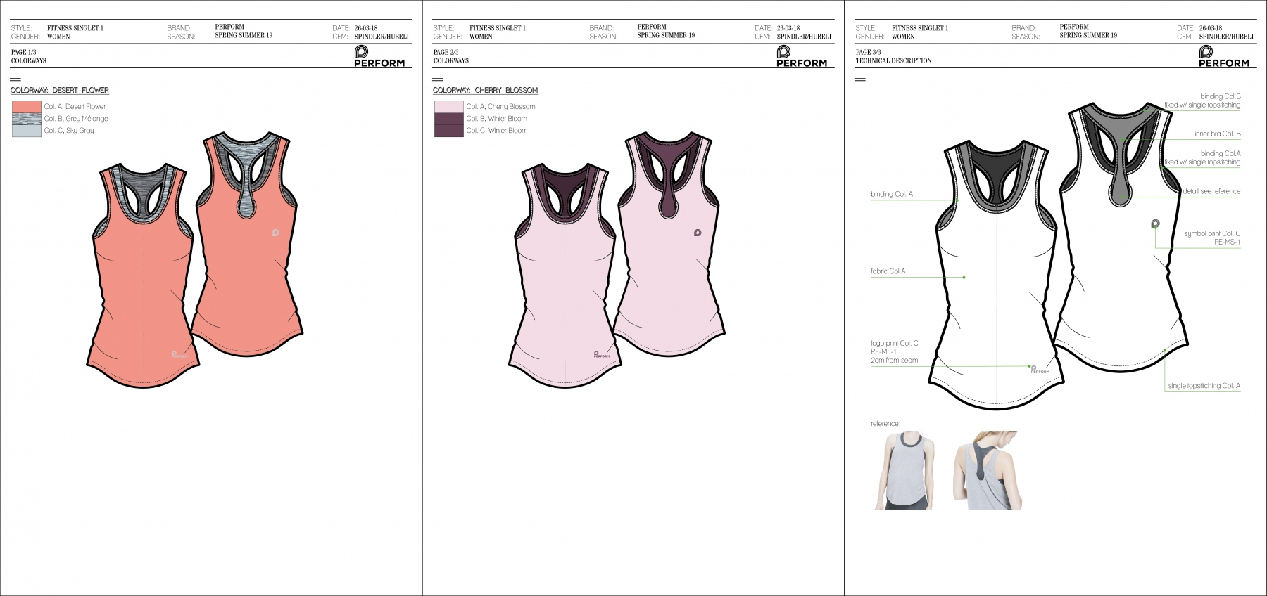 Perform - Womens fitness singlet