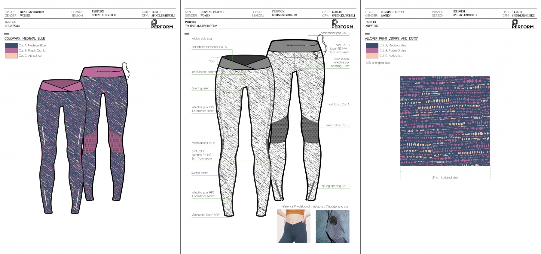 Perform - Womens running tights